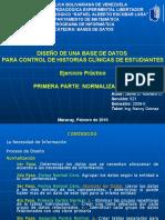EJERCICIO PRACTICO DE DISEÑO DE BASES DE DATOS - Primera Parte- Normalización-JAIME ROMERO