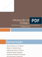 Produção de ácido fórmico a partir do CO2 de dornas de fermentação.