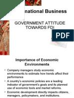 Govt Attitue towards FDI