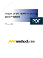 Impact of ISO 31000 on Existing ERM Programs