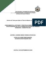 CONOCIMIENTOS, ACTITUDES Y PRÁCTICAS SOBRE USO DE DROGAS