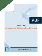 La Leggenda Del Paradiso Terres - Arturo Graf