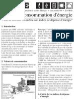 Indice Consommation d'énergie