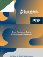 Curso Em Exercícios. Controle de Constitucionalidade. Parte II