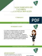 UNIDAD 5 Fortalecimiento de Valores Organizacionales