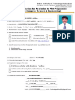 PhD Application Cse 2011