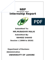 Complete Report of NBP by Rameez