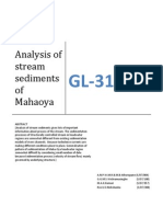 Annalysis of Sediments of Mahaoya