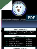 Main American International University 2010
