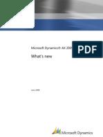 What's New-Microsoft Dynamics AX 2009