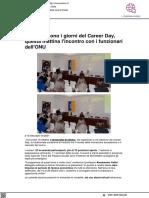 A Urbino sono i giorni del Career Day, oggi l'incontro con l'ONU - Vivere Urbino.it, 20 ottobre 2021