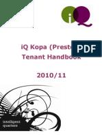 iQ Preston Tenant Handbook 2010-11