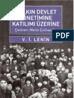 Halkın Devlet Yönetimine Katılımı Üzerine - V. İ. Lenin