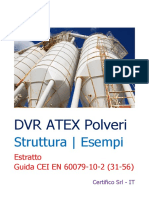 DVR ATEX Polveri Struttura - Esempi Guida CEI 31-56 EN 60079-10-2 Rev. 1.0 2019