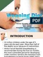 Weaning Diet Saadah