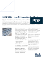 BSEN 10204 - Type 3.2 Inspection Certification Factsheet