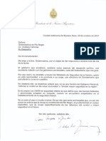 Carta de Alberto Fernández a Arabela Carreras