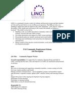 Job Description April 2011