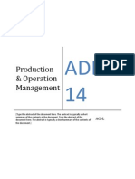ADL 14 - Production and Operation Management Material
