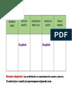 English Timetable