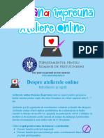 Prezentare Atelier Online Bluza Românească