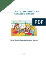cuaderno de trabajo2º Español y Matemáticas