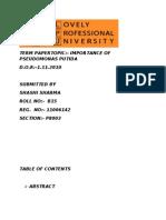 IMPORTANCE OF PSEUDOMONAS PUTIDA