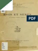 BLOCH, Marc. Rois Et Serfs