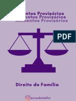ALIMENTOS PROVISÓRIOS - DIREITO DE FAMILIA