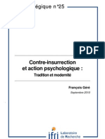 Contre-insurrection et action psychologique. Tradition et modernité