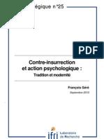 Contre-insurrection et action psychologique. Tradition et modernité