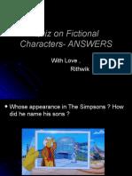 Quiz on Comics-Ans