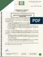 DGI_Nouveaux régimes d'imposition