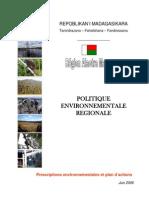 Politique environnementale  Régionale - Alaotra Mangoro (Région Alaotra Mangoro - 2006)