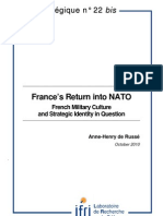 France's Return into NATO. French Military Culture and Strategic Identity in Question
