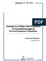 Caveats to Civilian Aid Programs in Counterinsurgency. The French Experience in Afghanistan