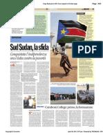 Avvenire - Reportage dal Sudan, di Paolo M. Alfieri, 20/04/11
