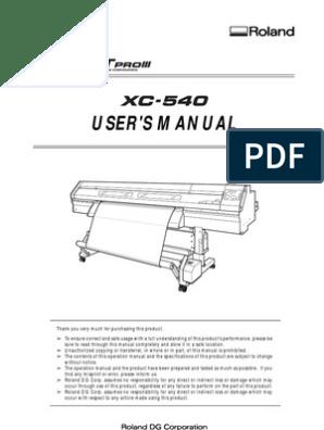 XC-540 User Manual | Printer (Computing) | Fires