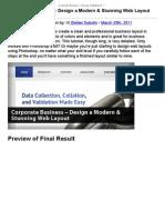 Corporate Business - Design a Modern & Stunning Web Layout