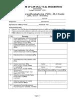 Performance Appraisal Scoring System (PASS) Form - Ph.D