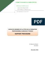 Orientations Sur La Formation Agricole Et Rurale Au Niger