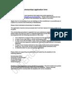 Undergraduate Scholarships Application Form