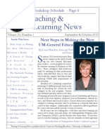 Teaching and Learning News