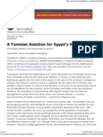 A Tunisian Solution for Egypt's Military