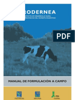 Manual de Formulación a Campo