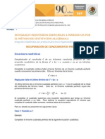 INTEGRALES INDEFINIDAS REDUCIBLES A INMEDIATAS POR EL MÉTODO DE SUSTITUCIÓN ALGEBRAICA