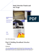 DIY Broadband Absorber Panels and Corner Bass Traps
