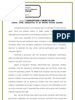 Ild -- Final Paper of Anti Corruption Curriculum