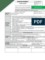 13. EN-GRH-04 v1 Fiche de poste admin achats et Transit SIMPA CI