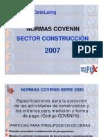 Codificación y Construcción de la Norma COVENIN 2007
